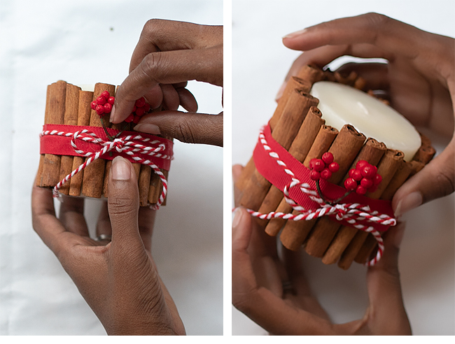 DIY Holiday Cinnamon Stick Candles