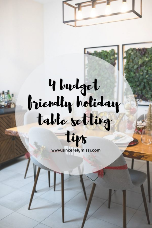 4 budget friendly Holiday Table Setting tips