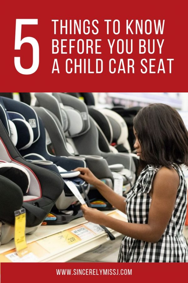 5 Tips You Should Know Before Buying a Child Car Seat