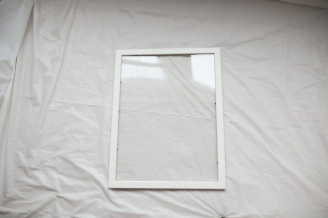 A white Fiskbo frame from ikea