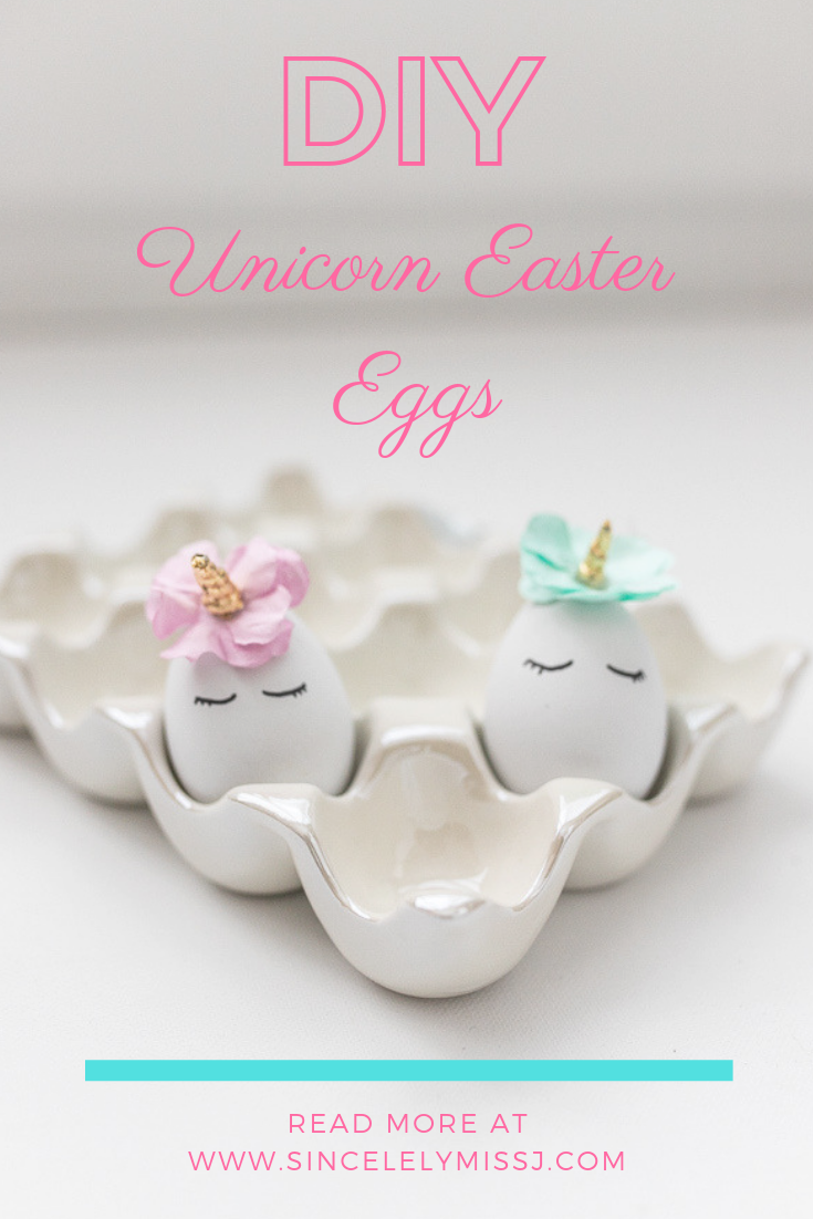 DIY Unicorn Easter Eggs Tutorial: Sincerely Miss J