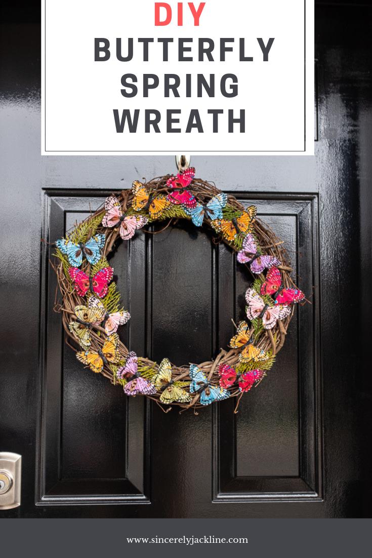 DIY Easy DIY Butterfly Spring Wreath