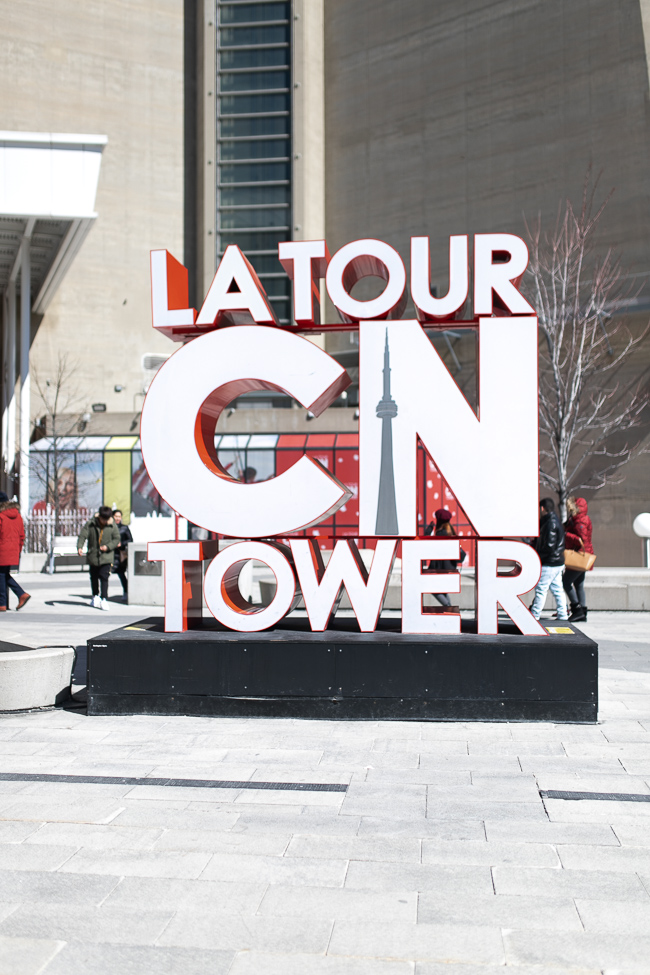 Photo of the CN Tower Sign