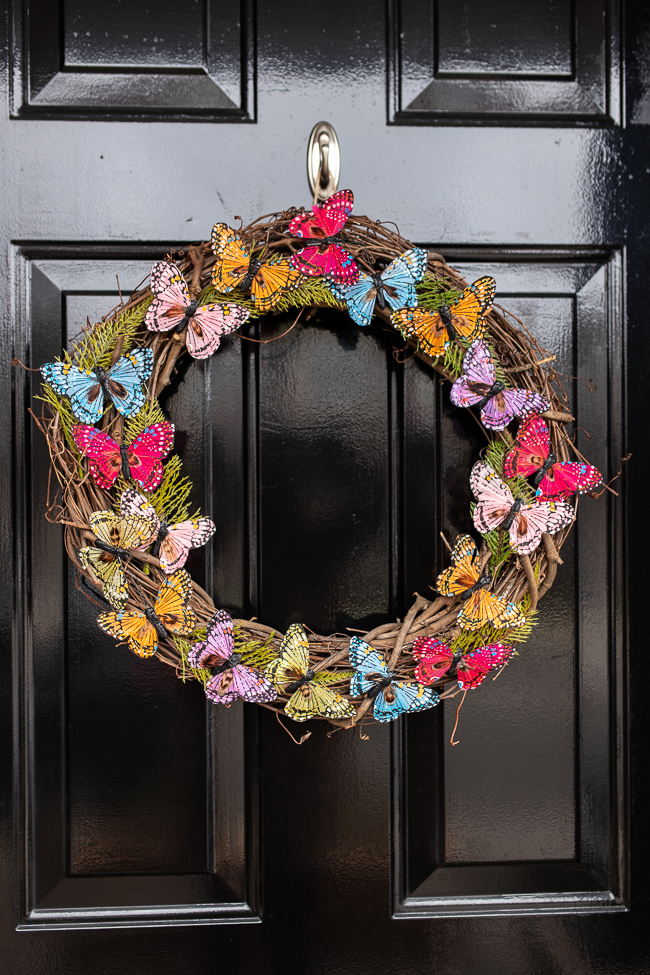 DIY Butterfly Spring Wreath
