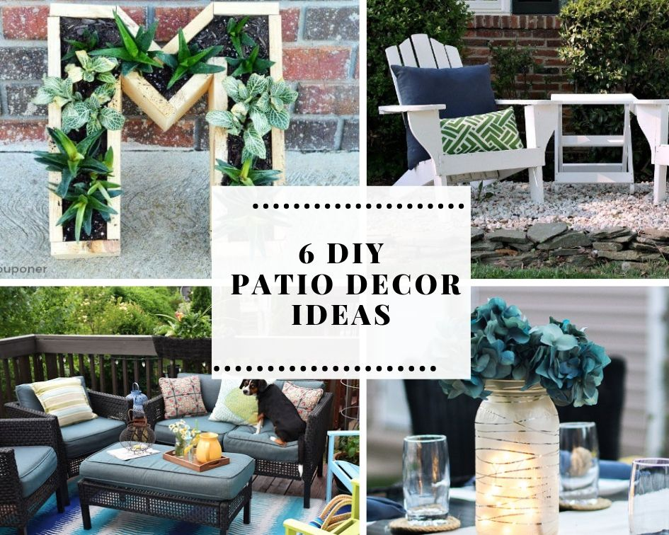 A collection of 4 DIY patio decor ideas
