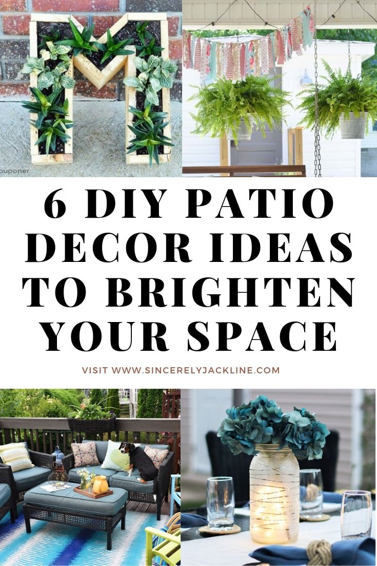 6 DIY Patio Decor Ideas to Brighten Your Outdoor Space