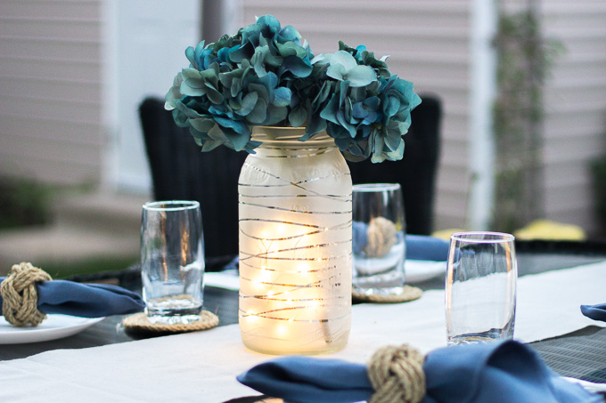 DIY outdoor centerpiece