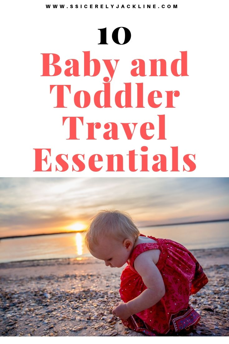baby and toddler travel essentials. #family travel