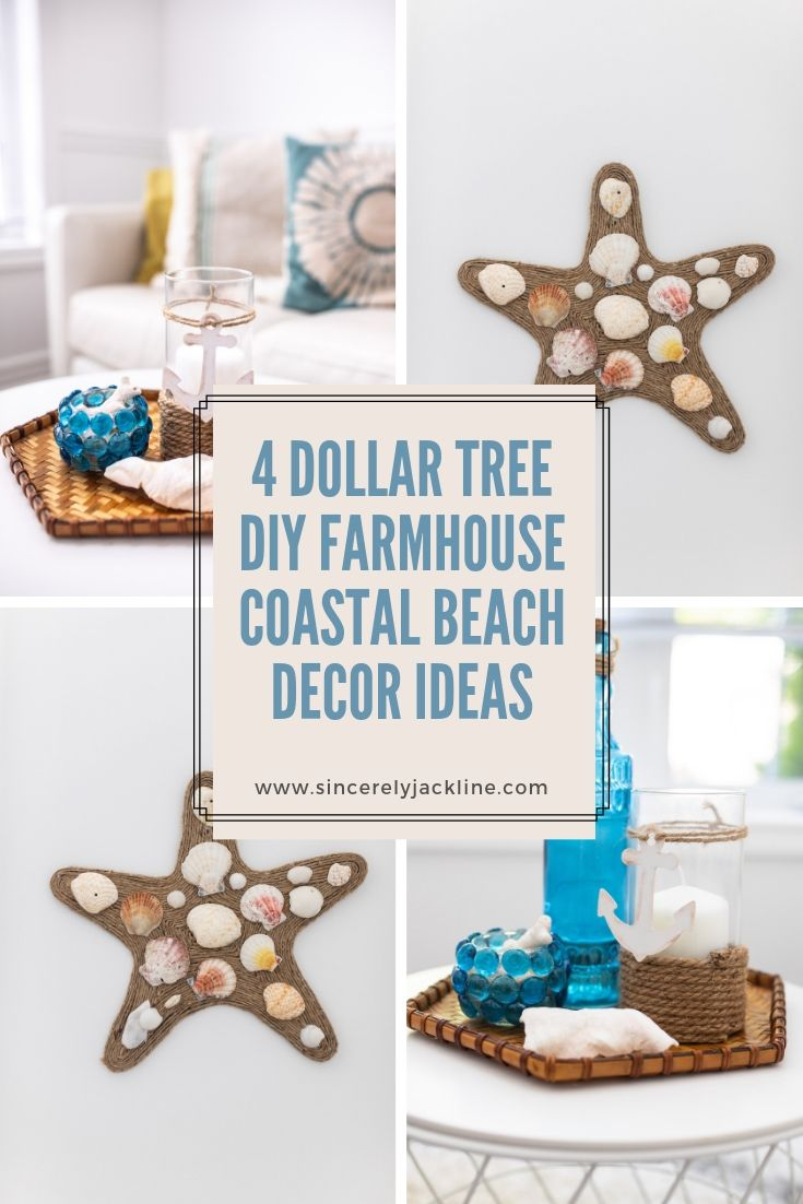 4 Dollar Tree DIY Farmhouse Coastal Beach Decor