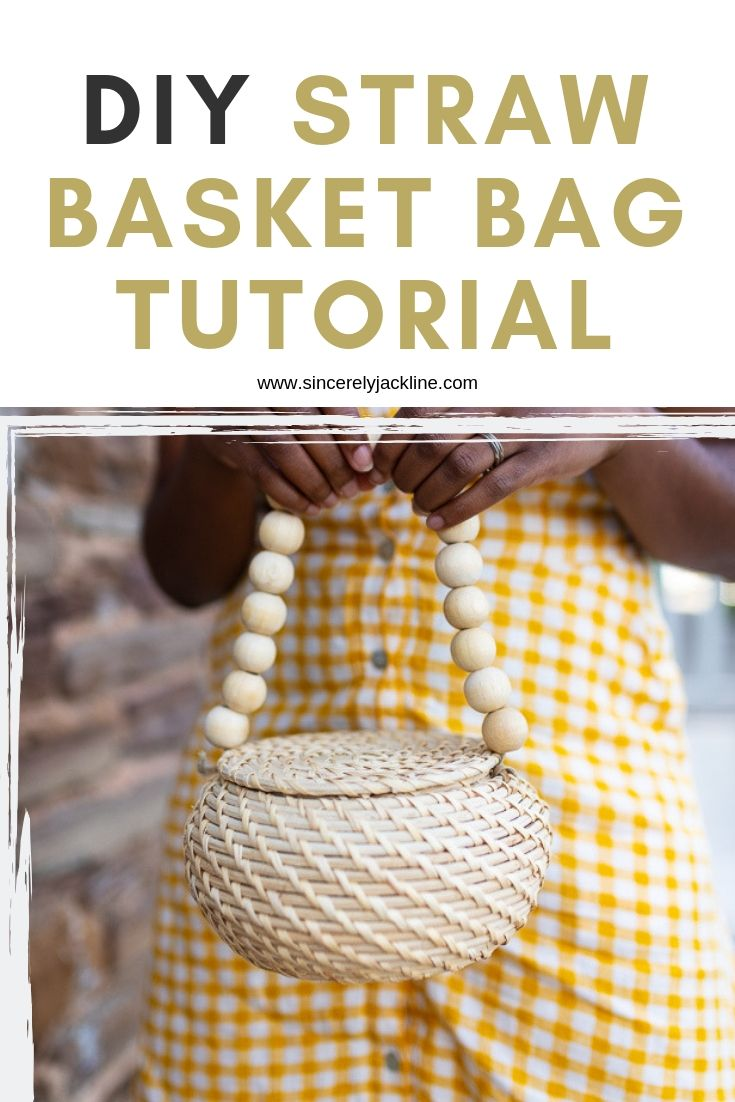 Easy DIY Straw Basket Bag Tutorial