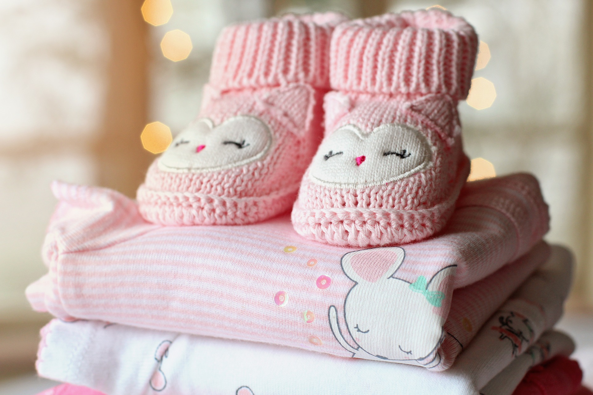 baby booties and baby clothes
