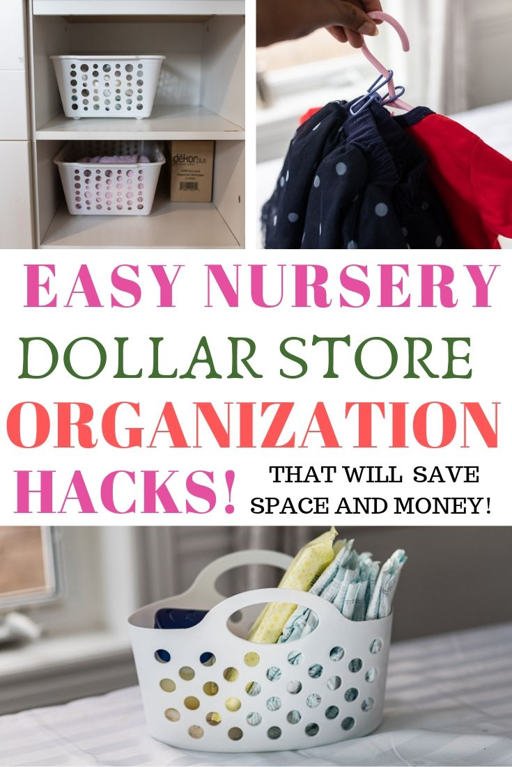 6 Dollar Store Organization Hacks For Your Nursery - Sincerely Miss J