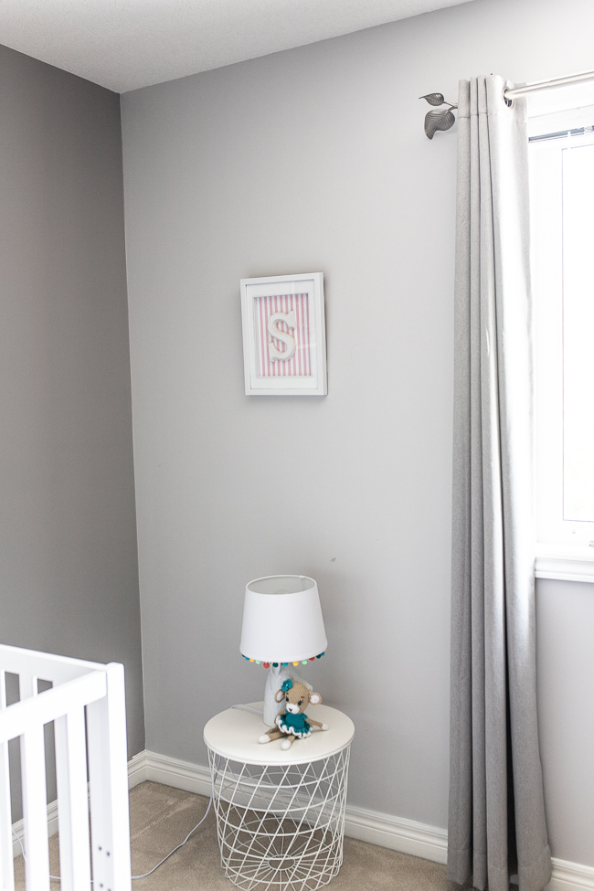 A grey and pink child's room