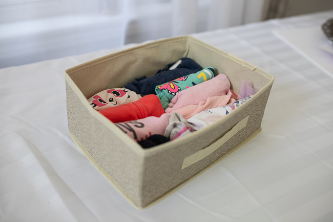 A photo of a drawer organizer