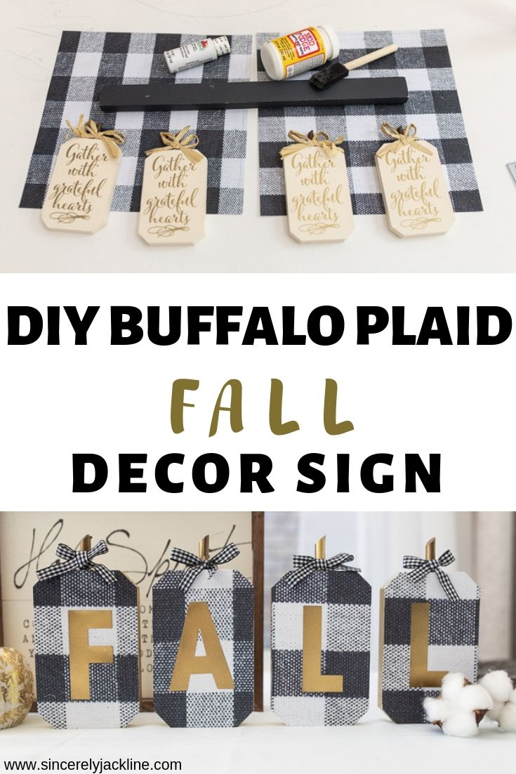 DIY Buffalo Plaid Fall decor Sign