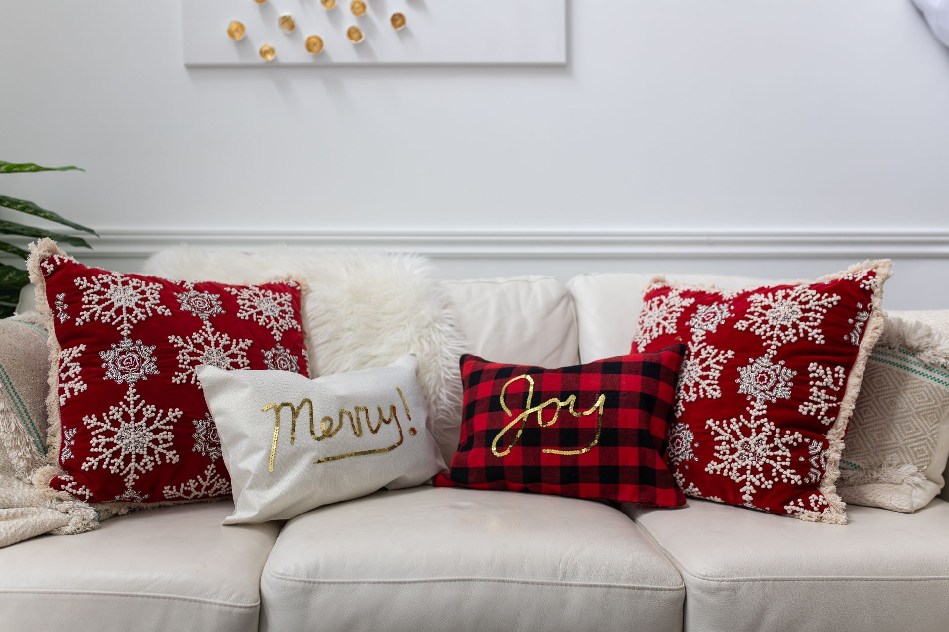 DIY Christmas Placemat Pillows Tutorial