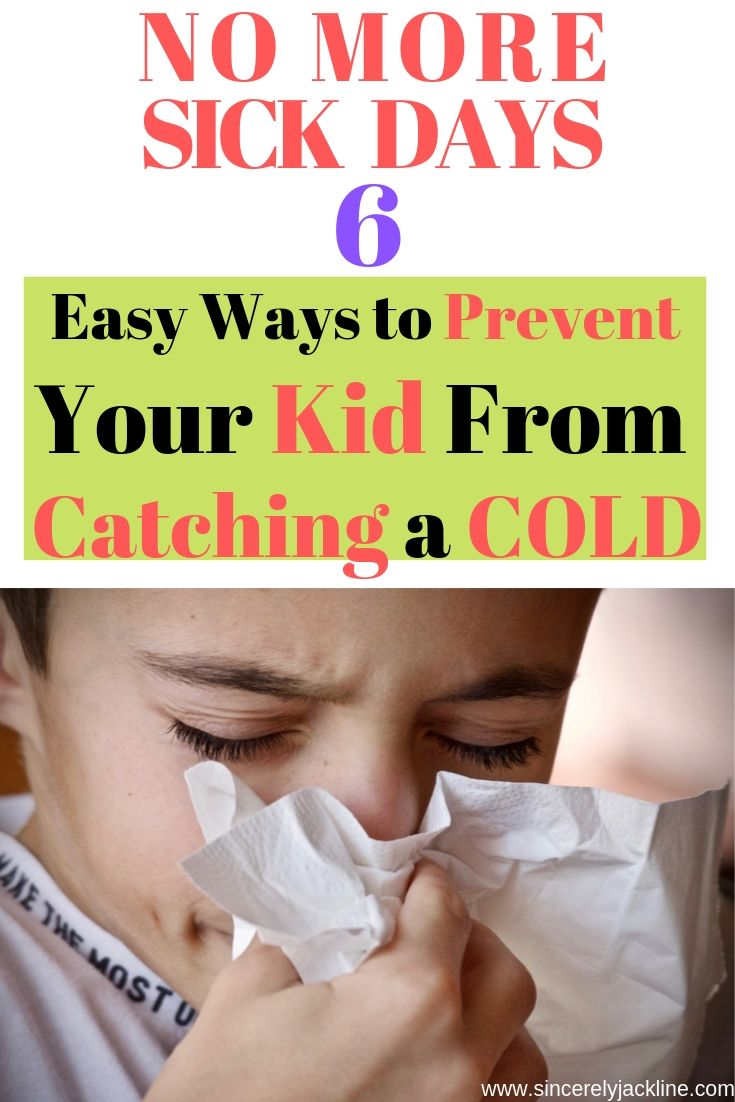 Child blowing nose because of cold Prevent Your Kid From Catching A Cold