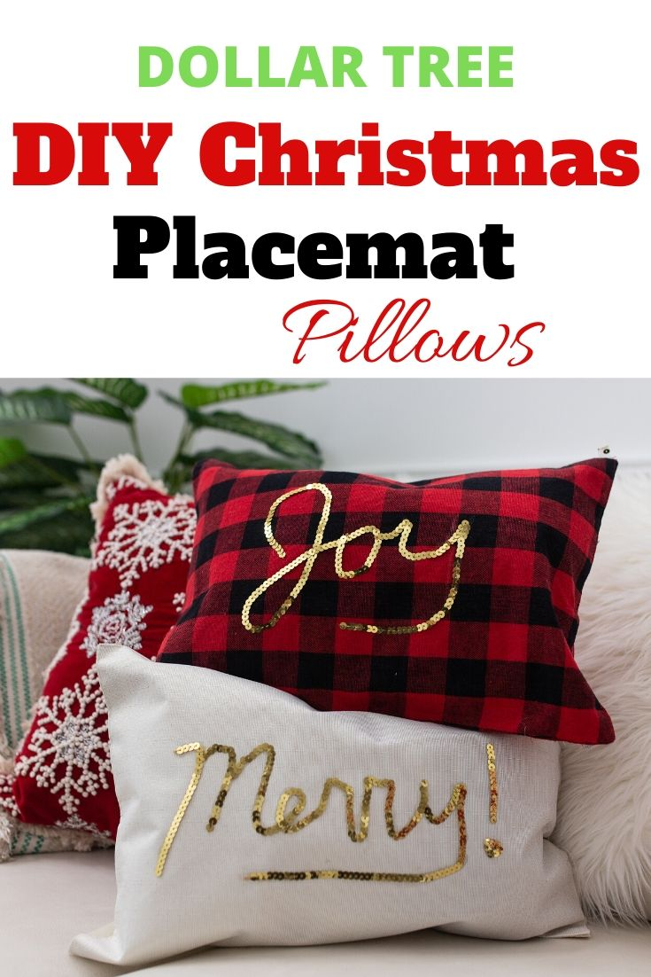 DIY Christmas placemat pillows (2)