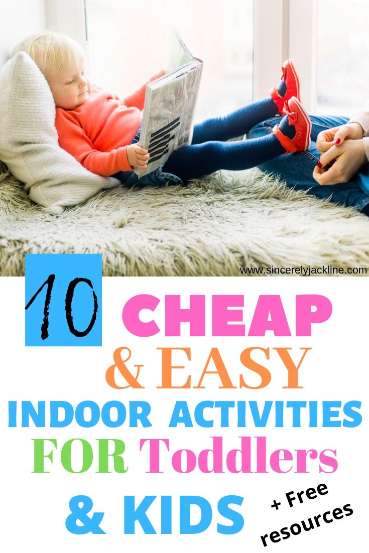 Cheap and Easy Indoor Activities for Toddlers
