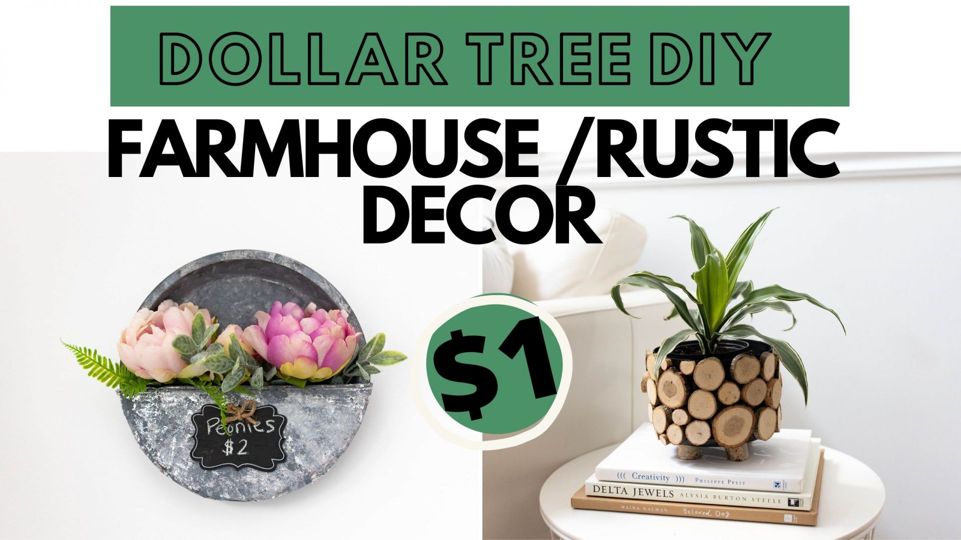 DIY Dollar Tree Farmhouse Decor Ideas