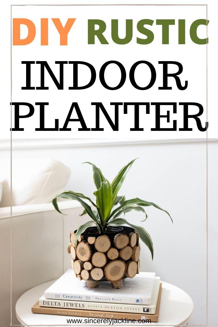 Rustic indor planter