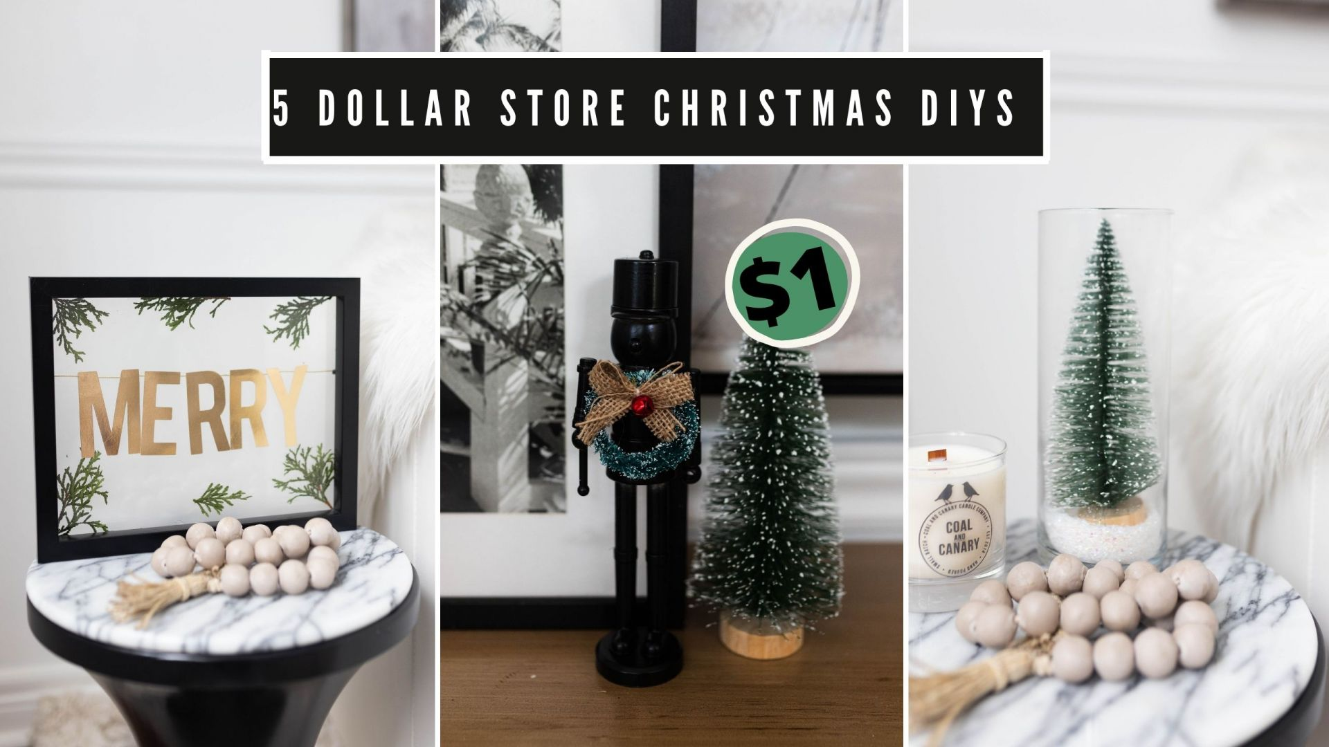 5 Modern DIY Dollar Store Christmas Decor Ideasrn DIY Dollar Store Christmas Decor Ideas